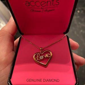 Love in a heart genuine diamond necklace!